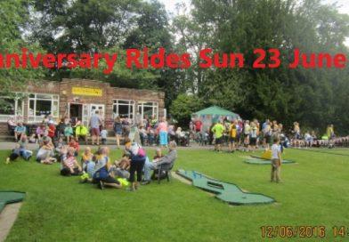 Anniversary Tea and Rides 23 June.